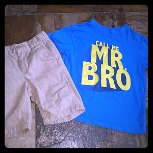 """Boys size 6 """"Call Me Mr. Bro"""" outfit"""